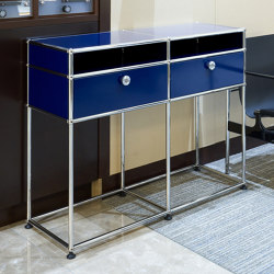 USM Haller Sidetable | Steel Blue | Side tables | USM