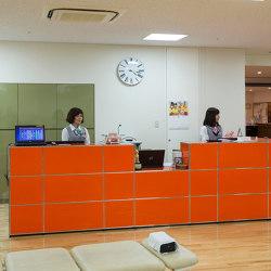 USM Haller Reception Station | Pure Orange | Counters | USM