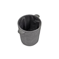 Earth Basket + Lid + linen Bag Black Earth | Laundry baskets | Serax