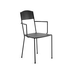 Metal Chair Incl. Armrest Matt Black Adriana   Sedie   Serax