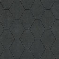 Metallique | Hexa Noir | Ceramic tiles | Kronos Ceramiche