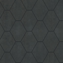 Metallique | Hexa Noir | Carrelage céramique | Kronos Ceramiche