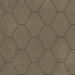 Metallique | Hexa Brune | Ceramic tiles | Kronos Ceramiche