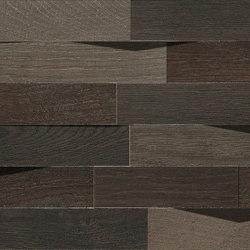 Les Bois | Batonnet 3D Mix Dark | Ceramic tiles | Kronos Ceramiche