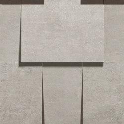Prima Materia | Muro 3D Cemento | Piastrelle ceramica | Kronos Ceramiche
