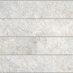 Rocks | Brick Silver White | Ceramic tiles | Kronos Ceramiche
