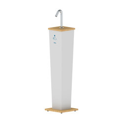 Csaba Hand Sanitizer Stand Pillar | Infection prevention | Stern Engineering