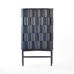 Weave 86. Black oiled birch | Cabinets | Ringvide Studio
