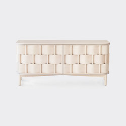 Weave 133. Natural white oiled birch | Multimedia sideboards | Ringvide Studio