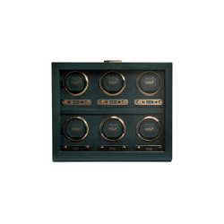 British Racing 6pc Watch Winder | Green | Behälter / Boxen | WOLF