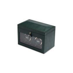 British Racing Double Watch Winder | Green | Storage boxes | WOLF