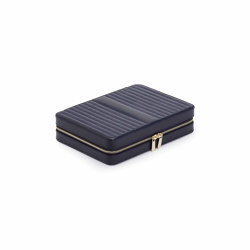 Maria Large Zip Case | Navy | Storage boxes | WOLF
