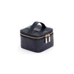 Maria Zip Jewelry Cube | Navy | Storage boxes | WOLF