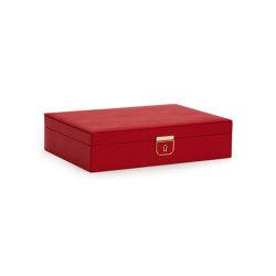 Palermo Medium Jewelry Box | Red | Storage boxes | WOLF