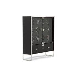 Regent - 12 Piece Cabinet Winder | Piano Black / Matte Black | Storage boxes | WOLF