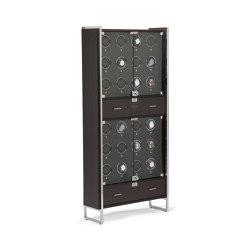 Regent - 24 Piece Cabinet Winder | Matte Zebra / Matte Black | Storage boxes | WOLF