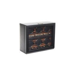 Roadster 6 Piece Winder | Black | Storage boxes | WOLF