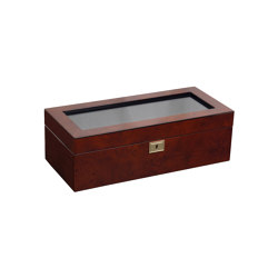 Savoy 5 Piece Watch Box | Burlwood | Storage boxes | WOLF