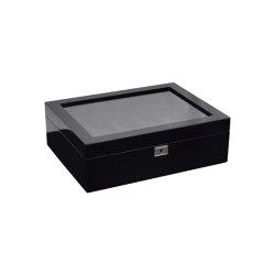 Savoy 10 Piece Watch Box | Black | Storage boxes | WOLF