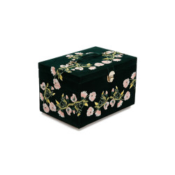 Zoe Large Jewelry Box | Forest Green | Storage boxes | WOLF