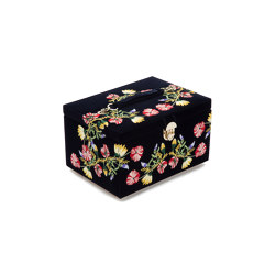 Zoe Medium Jewelry Box | Indigo | Storage boxes | WOLF