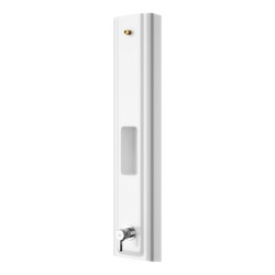 F5L Mix MIRANIT shower panel with shower gel shelf   Shower controls   Franke Water Systems