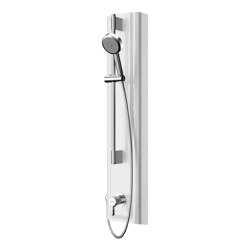 F5L Mix shower panel made of MIRANIT with hand shower fitting | Shower controls | Franke Water Systems