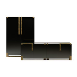 Black & Gold cabinet | Sideboards | Paolo Castelli