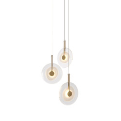 Golden Disc   Suspended lights   Paolo Castelli