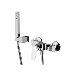 Fit F3385 | Exposed shower mixer with shower set | Bath taps | Fima Carlo Frattini