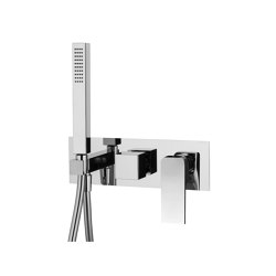 Fit F3399X2 | Single lever bath and shower mixer for concealed installation 2 outlet with shower set | Shower controls | Fima Carlo Frattini