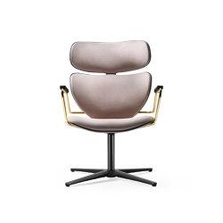 Asia swivel armchair | Stühle | black tie