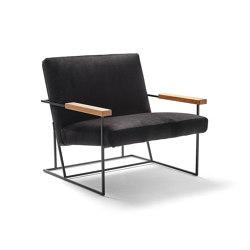 Gotham armchair with oak armrests   Fauteuils   Eponimo