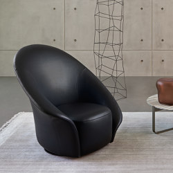 Lilia revolving armchair | Armchairs | Flou