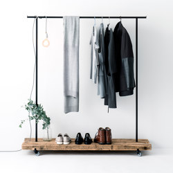 Reclaimed Wood 01 Clothes Rack | Appendiabiti | weld & co