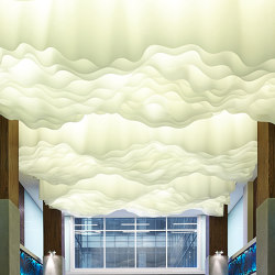 Wavy Ceiling   Suspended ceilings   PROCÉDÉS CHÉNEL