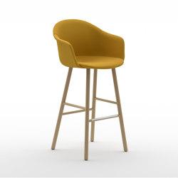 Màni Armshell Fabric ST 4WL | Bar stools | Arrmet srl