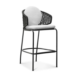Aston Cord Outdoor Stool | Barhocker | Minotti