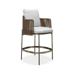 Tape Cord Outdoor Stool | Barhocker | Minotti