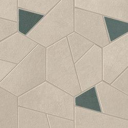 Boost Pro Cream Mosaico Hex Blue 25x28,5 | Ceramic mosaics | Atlas Concorde