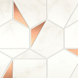 Marvel Shine Calacatta Delicato Gold Hex 25,1x29 | Ceramic tiles | Atlas Concorde
