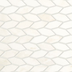 Marvel Shine Calacatta Delicato Twist 30,5x30,5 Shiny | Ceramic mosaics | Atlas Concorde
