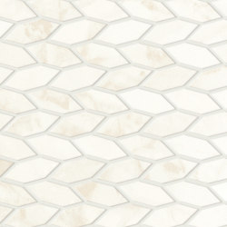 Marvel Shine Calacatta Delicato Twist 30,5x30,5 Silk | Ceramic mosaics | Atlas Concorde