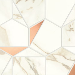 Marvel Shine Calacatta Imperiale Gold Hex 25,1x29 | Ceramic tiles | Atlas Concorde