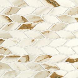 Marvel Shine Calacatta Imperiale Twist 30,5x30,5 Shiny | Ceramic mosaics | Atlas Concorde