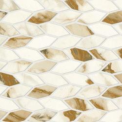Marvel Shine Calacatta Imperiale Twist 30,5x30,5 Silk | Ceramic mosaics | Atlas Concorde