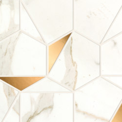 Marvel Shine Calacatta Prestigio Gold Hex 25,1x29 Shiny | Ceramic tiles | Atlas Concorde