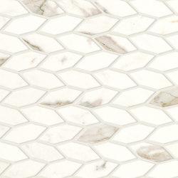 Marvel Shine Calacatta Prestigio Twist 30,5x30,5 Shiny | Ceramic mosaics | Atlas Concorde