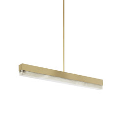 Artés 900 Pendant Satin Brass | Suspended lights | CTO Lighting