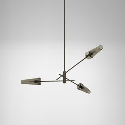 Axis pendant bronze / smoked glass | Suspended lights | CTO Lighting